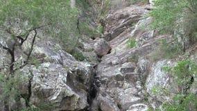 West-Ithaca-Nebenfluss, Mt-Gurren-tha, Zoom heraus stock video footage