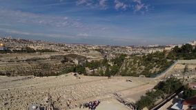 West Jerusalem flight stock video