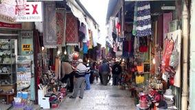 West Jerusalem market stock video footage