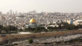 West Jerusalem view stock video footage