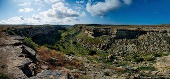 Canyon Saura on the Mangyshlak Peninsula stock photo