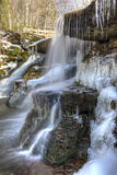 West Kill Falls Icicles Royalty Free Stock Images