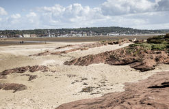 West Kirby from Little Eye. One of the three islands at Hilbre on the Wirra Stock Photo