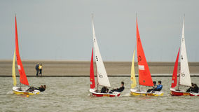 West-Kirby Marine Lake Sailboat Race Lizenzfreies Stockbild
