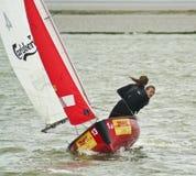 West-Kirby Marine Lake Sailboat Race Lizenzfreie Stockbilder