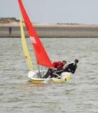 West-Kirby Marine Lake Sailboat Race Stockfoto