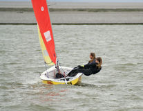 A West Kirby Marine Lake Sailboat Race stock photography