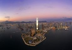 West Kowloon Cultural District of Hong Kong. Stretching across 40 hectares of reclaimed land, the West Kowloon Cultural District is one of the largest cultural royalty free stock image