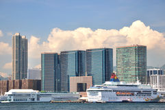West Kowloon seaside in Hongkong Stock Images