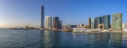 West Kowloon, Victoria Harbour, Hong Kong. At afternoon Stock Images