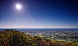 West-ländliches Landschaftspanorama Marylands Stockfotos
