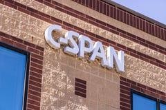 West-Lafayette - Circa April 2017: C-SPANWIJDTE VideodieBibliotheek en archieven, bij Purdue- Onderzoekpark II wordt gehandhaafd royalty-vrije stock fotografie
