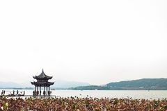 West lake in autumn. royalty free stock photography