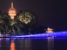 The west lake beautiful night view Royalty Free Stock Images