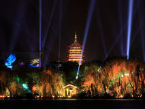The west lake beautiful night view Stock Photos