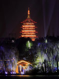 The west lake beautiful night view Royalty Free Stock Photography