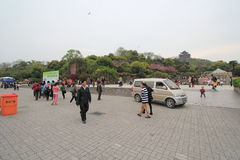 West Lake Cultural Landscape of Hangzhou street view Stock Photo