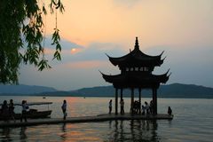 West Lake in Hangzhou. Lake, located in the west of Hangzhou, Zhejiang Province, is China's main ornamental freshwater lakes, is also China's first national key stock photos