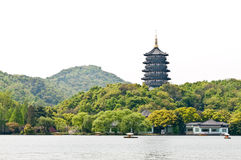 The west lake Leifeng Pagoda in hangzhou Royalty Free Stock Photo