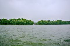 Hangzhou West Lake. West Lake, located in the west of Hangzhou, Zhejiang Province, West Lake on the three side of the mountain, an area of about 6.39 square royalty free stock photo