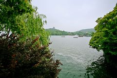 Hangzhou West Lake. West Lake, located in the west of Hangzhou, Zhejiang Province, West Lake on the three side of the mountain, an area of about 6.39 square royalty free stock photography