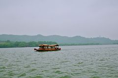 Hangzhou West Lake. West Lake, located in the west of Hangzhou, Zhejiang Province, West Lake on the three side of the mountain, an area of about 6.39 square royalty free stock photos