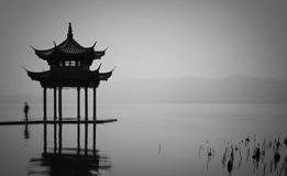 West Lake Pavilion Royalty Free Stock Image
