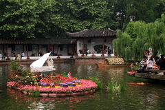 The west lake in spring Royalty Free Stock Photo