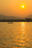West Lake sunset, Hangzhou China Stock Image