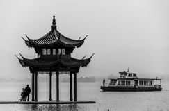 West Lake (XiHu), Hangzhou,. Ancient pavilion on the west lake in hangzhou,China Royalty Free Stock Images