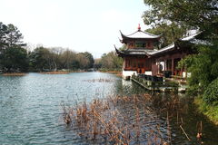 West Lake(xihu) in Hangzhou of China in winter after the snow Royalty Free Stock Photos