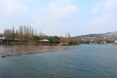West Lake(xihu) in Hangzhou of China in winter after the snow Stock Images