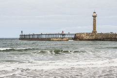 West Lighthouse Whitby Harbour Royalty Free Stock Photo