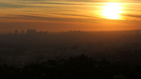 West Los Angeles Sunset Time Lapse stock video footage
