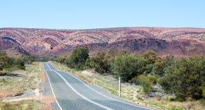 West Macdonnell Ranges Australia scene. Very ancient rocks Stock Photos