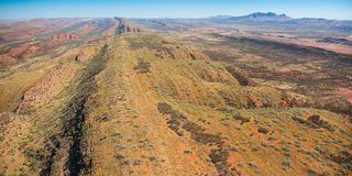West MacDonnell Ranges Mount Sonder Aerial View Royalty Free Stock Photo