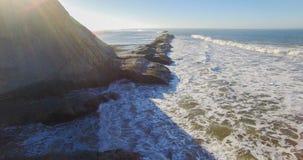 West Marin in Bolinas Californian. Aerial shot at sunrise around Bolinas California stock photo