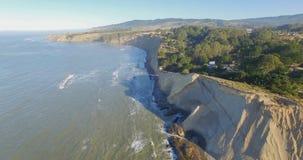West Marin in Bolinas Californian. Aerial shot at sunrise around Bolinas California royalty free stock photo