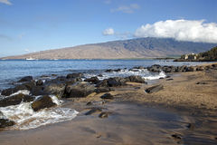 West Maui Mountains. Morning view of the West Maui Mountains stock photos