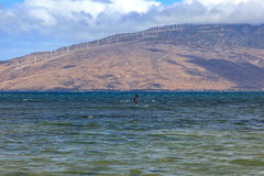 West Maui Mountains. View from Kihei, Hawaii looking across Maalaea Bay at the West Maui Mountains royalty free stock images