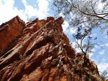 The West McDonnell ranges. Stanley chasm in the West McDonnell ranges in the Northern Territory in Australia royalty free stock photography