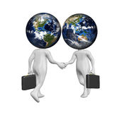 West Meet East Business Cooperation Illustration Royalty Free Stock Photography