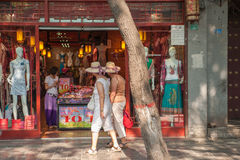 West meets east at Muslim street in Xian, China Stock Photography