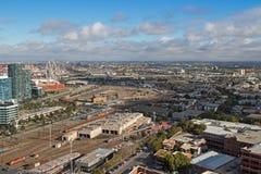 West-Melbourne mit Bombenschützentram Depot und Stern-Beobachtung W Lizenzfreie Stockfotos