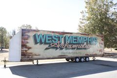 West Memphis Arkansas on a Trailer. West Memphis is the largest city in Crittenden County, Arkansas, United States. The population was 26,245 at the 2010 census Stock Photos