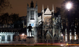 West Minster Abbey, United Kingdom. West Minster abbey at night time in London, united Kingdom Royalty Free Stock Images