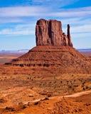 West Mitten Butte. In Monument Valley Tribal Park, Arizona Stock Photos