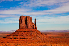 West Mitten Butte. In Monument Valley Tribal Park, Arizona Stock Photos