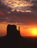 West Mitten Butte. The West Mitten Butte in Monument Valley at sunrise Royalty Free Stock Photos