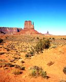 West Mitten Butte, Monument Valley. Royalty Free Stock Images
